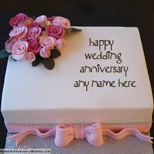 Online Happy Anniversary Cakes With Name On It Aanjan And Rohan In
