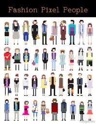 Pixel Character Template 4 Designer Cartoon Characters Pixel Art 01 Vector