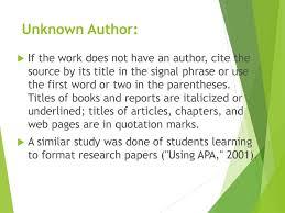Apa Internal Citation Ppt Download
