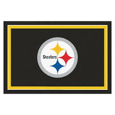 fanmats pittsburgh steelers 5 ft x 8 ft area rug