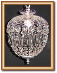 1 light baguette crystal chandelier restoration every piece of this crystal chandelier was cleaned polished re pinned using new chrome