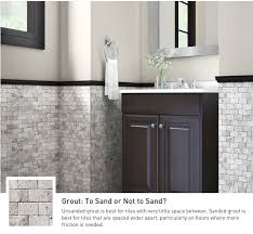 Image Floor Tiles Bathroom Vanity Flanked By Natural Stone Tiles In Variety Of Shades Lowes Bathroom Tile And Trends At Lowes