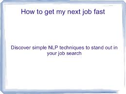 How To Get My Next Job Fast Pres