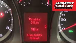How To Reset Gmc Terrain Oil Light 2011 Gmc Terrain Oil Life Reset