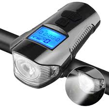 Waterproof <b>Bicycle Light Computer</b> Cycle <b>Speedometer</b> Lights USB ...