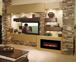 Images interior design tv Wall Stone Wood Fire And Plenty Of Light Every Space Will Make Very Pleasant To Lushome 50 Inspirational Tv Wall Ideas Art And Design