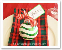 Holiday Placecards Christmas Place Cards Candy Ornaments