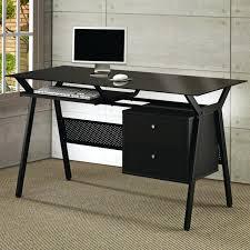 desk with glass top computer desk w black tempered glass top glass desk top shelf