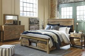 Ashley Furniture B775 Sommerford - Modern Queen King Panel Bed Frame Bedroom Set