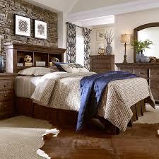 Progressive Bedroom Furniture Progressive Furniture Copenhagen Solid Wood Pine Queen Bookcase