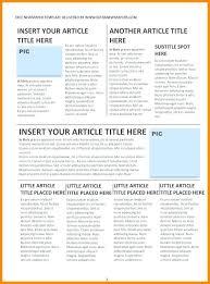 Editorial Template Newspaper Word Calendar In Excel Free