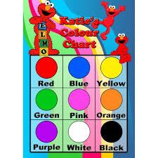 Basic Color Chart For Kids Personalised Kids Colours Chart Personalise It Products