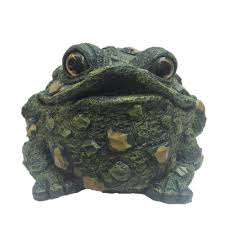 extra large sitting toad motion activated croaking