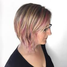 pops of pink hairstyle