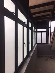 aluminium sliding window with or without top hung