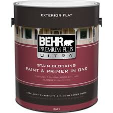 behr exterior paint home depot. Interesting Paint BEHR Premium Plus Ultra 1 Gal Pure White Flat Exterior Paint With Behr Home Depot A