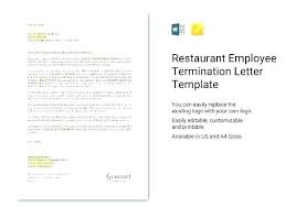 Template For Termination Of Employment Bigminds Info
