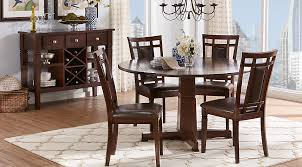 Riverdale Cherry 5 Pc Round Dining Room  Rooms To Go