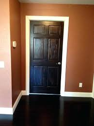 white trim and stained doors cozy white door trim dark stained door and white trim our home projects grey house white