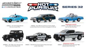 Green Light Cop Cars Greenlight 1 64 Hot Pursuit Series 32 Police Car Set Six