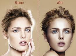 cheek contour before and after. before and after contour highlight makeup cheek
