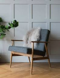 h lis fox easy chair wool four colours available mid century modern