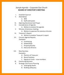 Standard Agenda Template – Freewarearena.info