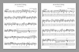 Bach Chord Progression Chart Free Classical Guitar Sheet Music Js Bach Air On The G String