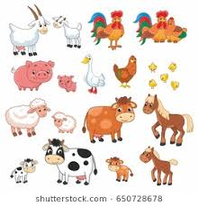 farm animals pictures. Interesting Pictures Cartoon Vector Set With Farm Animals Vector Illustration For Kids Inside Farm Animals Pictures