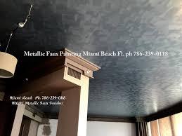 metallic faux finish ceiling miami beach condo ph 786 239 0118