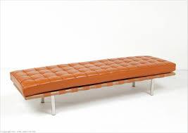 honey tan leather barcelona bench 3 seater mies van der rohe replica by modernclassics com mc 1008