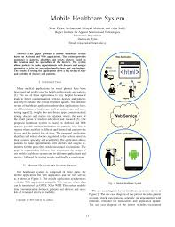 Doctor Applications Pdf Mobile Healthcare System