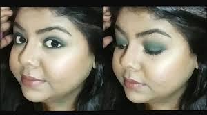 eye makeup tutorial in क स कर प र ट म कअप step by green smokey