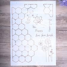 11819 руб 10 скидкаa4 размеры Diy Craft соты пчел трафареты для покраски стен