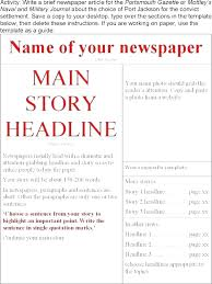 Newspaper Column Template Word Blank Front Page Newspaper Template Automotoread Info