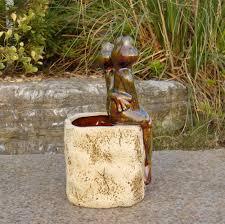 Gardening Decorative Accessories Porcelain Frog Couple Figurine Plant Pot Decorative Ceramics 64