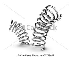 metal spring transparent background. metal spring on white background - csp23783995 transparent g