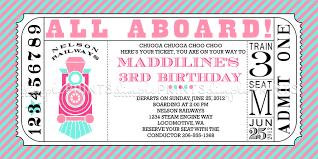 Invitation Ticket Template Girl Train Ticket Printable Invitation Dimple Prints Shop 29