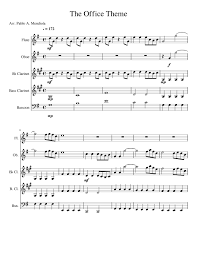 The Office Theme Sheet Music For Flute Clarinet Oboe