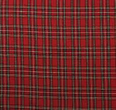 ballard designs holiday plaid red tartan multiuse fabric by yard 56 w