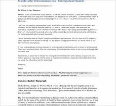 88 Free Letter Of Recommendation Templates Sample Formats