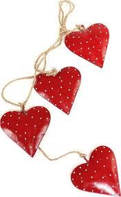 <b>Гирлянда EnjoyMe</b> Red Hearts en_ny0035 <b>подвесная</b>, красный, 4 шт