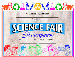 Hayes Science Fair Awards And Incentives Certificate 11 X 8 1 2
