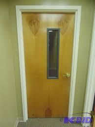 Solid Core Door w Window Office Furniture Cabinets Doors and