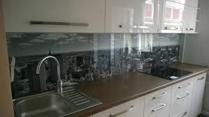 kitchen glass backsplash. Kitchen Glass Backsplash With Digital Printing Made Of Tempered Led Background / Kuchenny Panel