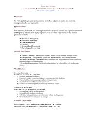 Restaurant Resume Sample Essayscope Com