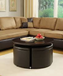 Round Table Ottoman Table Round Coffee Table Ottoman Transitional Compact Round