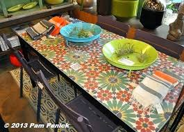Ceramic Tile Table Top Diy Cool Patio Outdoor Tiled A How To Killer