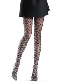 Patterned Hosiery Cool Funny Two Tone Diamond Patterned Tights By Oroblu Dress My Legs