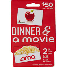 applebee s amc theaters dinner a gift card pack